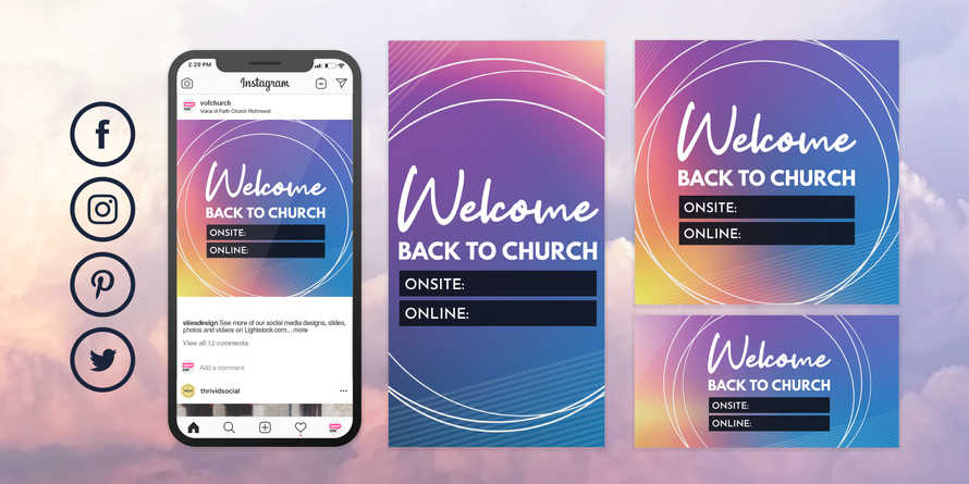 Welcome Back Church Reopening Coronavirus COVID-19 Social Media Post