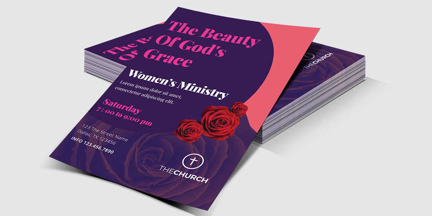 Women's Ministry Church Flyer Invitation
