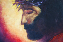 painting of the face of Jesus