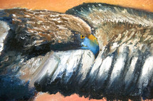painting of a brown eagle