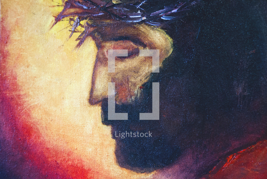 Jesus Christ - biblical figure. Painted by Nick Bakhur
