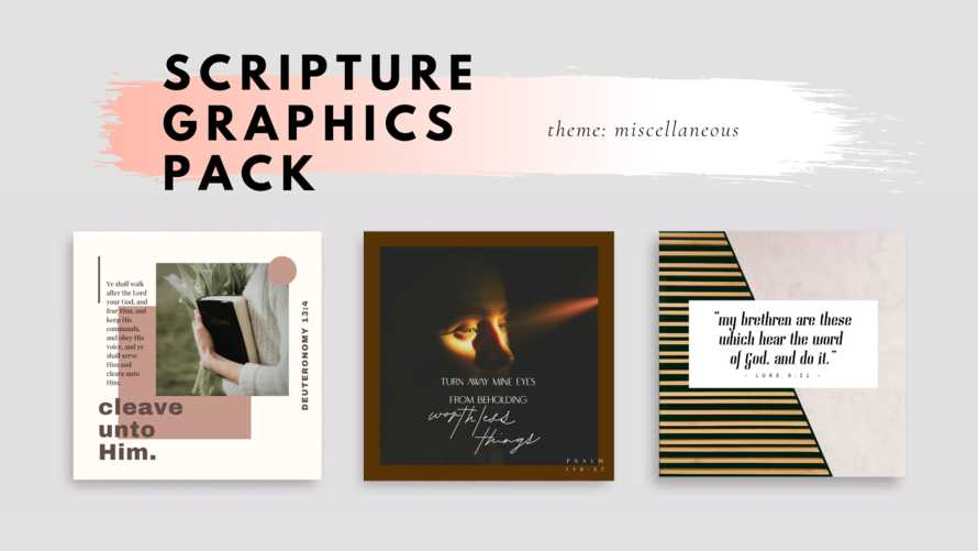 Scripture Graphic Pack (No.3)