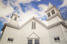 a white church exterior