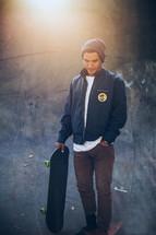 a man on a skateboard