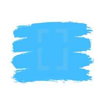 The blue paint brush stroke is drawn by hand. Paintbrush drawing on canvas. Hand-drawn brushstroke texture on paper. Square shape. Rectangle shape. The graphic element saved as a vector illustration in the EPS file format for used in your design projects.