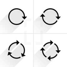 Reload arrow, refresh sign, rotation icon, cycle pictogram. Graphic element for design saved as an vector illustration in file format EPS