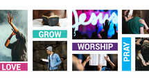 Church Word Color Block Sermon Worship Slide