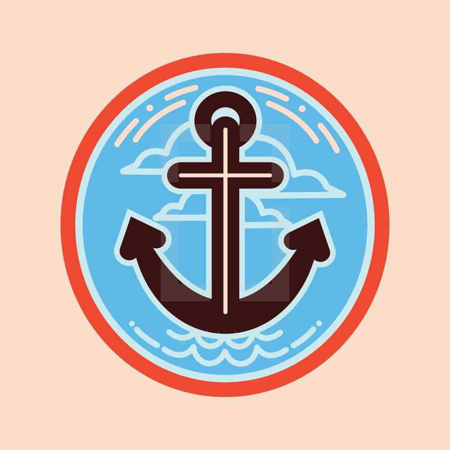 anchor and cross