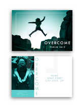 Overcome Fear, Depression, Anxiety, Trust in God, Postcard  Psalm 56:3