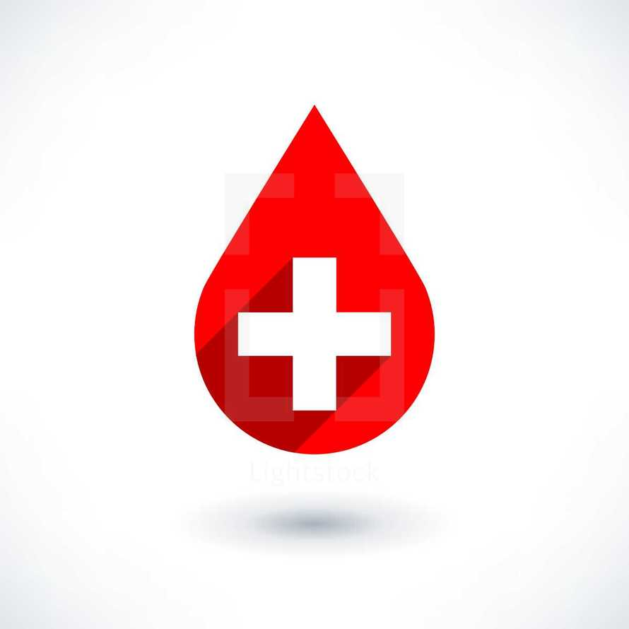 blood donation. First aid sign. Red blood icon with white cross. Graphic element for design saved as an vector illustration in file format EPS