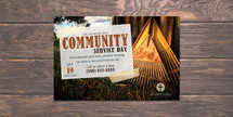 Community Service Postcard