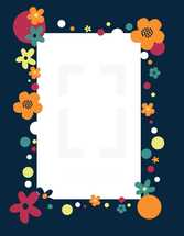 flowers around a frame