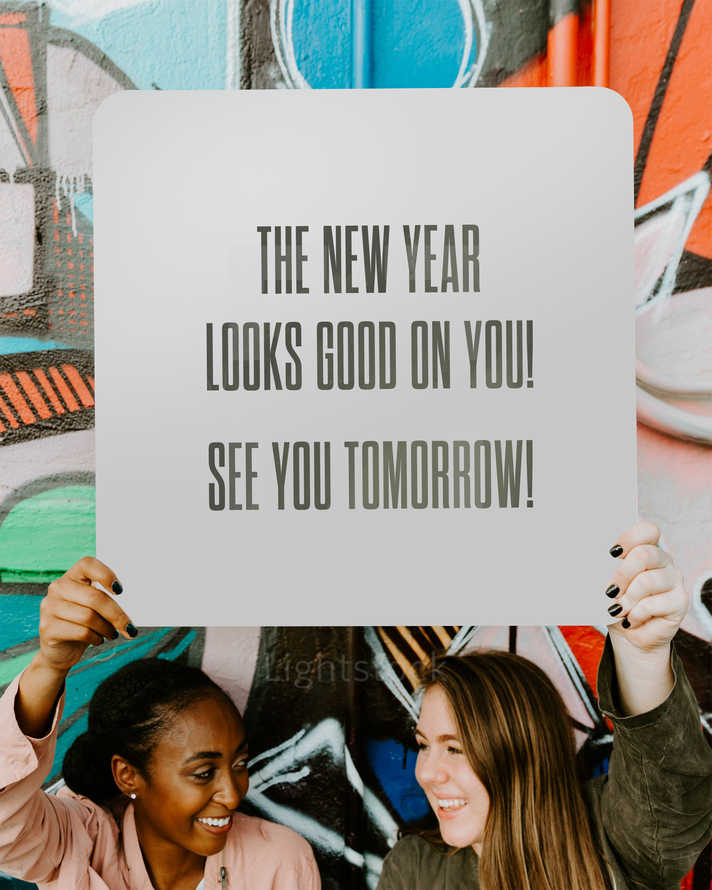 The new year looks good on you! See you tomorrow!