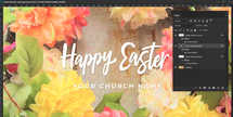 Happy Easter Spring Floral Wreath Social Media Graphic