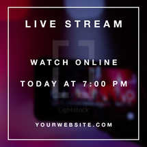 Live Stream Social Graphic