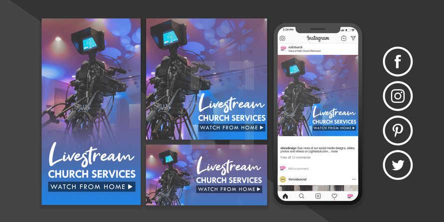 Livestream Video Services Social Post Coronavirus