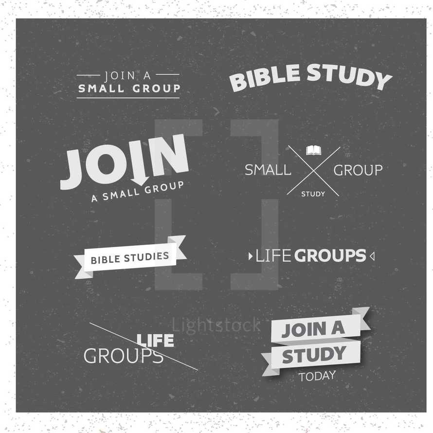 life groups, join a study today, Bible studies, join a small group, small group, words, lettering, groups, Bible study