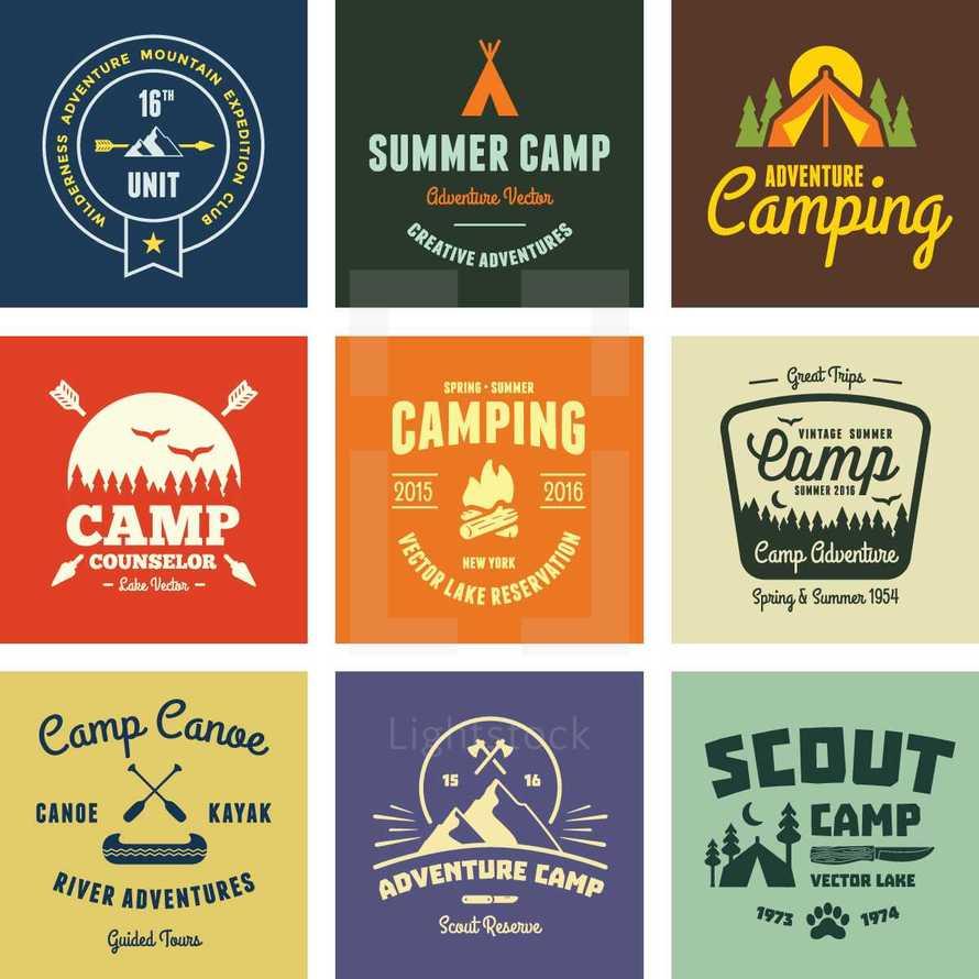 Camp graphics & badges