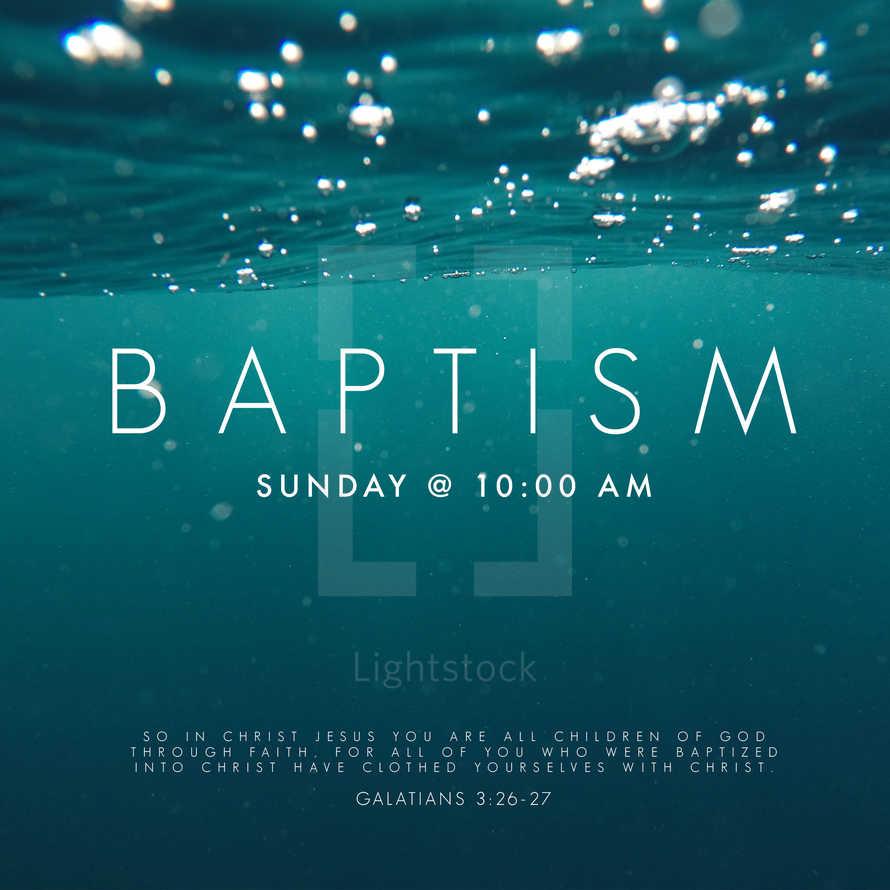 Baptism Salvation Social Media Graphic Background