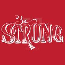 hand drawn lettering - strong