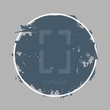 painted circle badge.