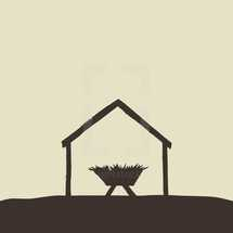A drawing of the manger.