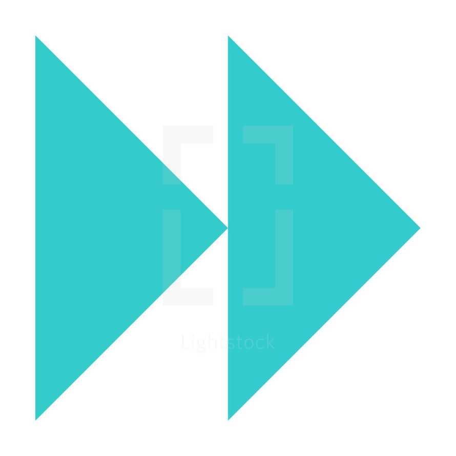 fast forward   Fast forward or backward icon audio sign player interface button. Multimedia audio video movie pictogram created in simple flat style. The design graphic element is saved as a vector illustration in the EPS file format.