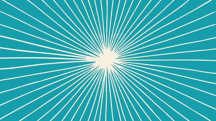 sunburst radiating lines