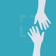 simple illustration of reaching out to give a helping hand.