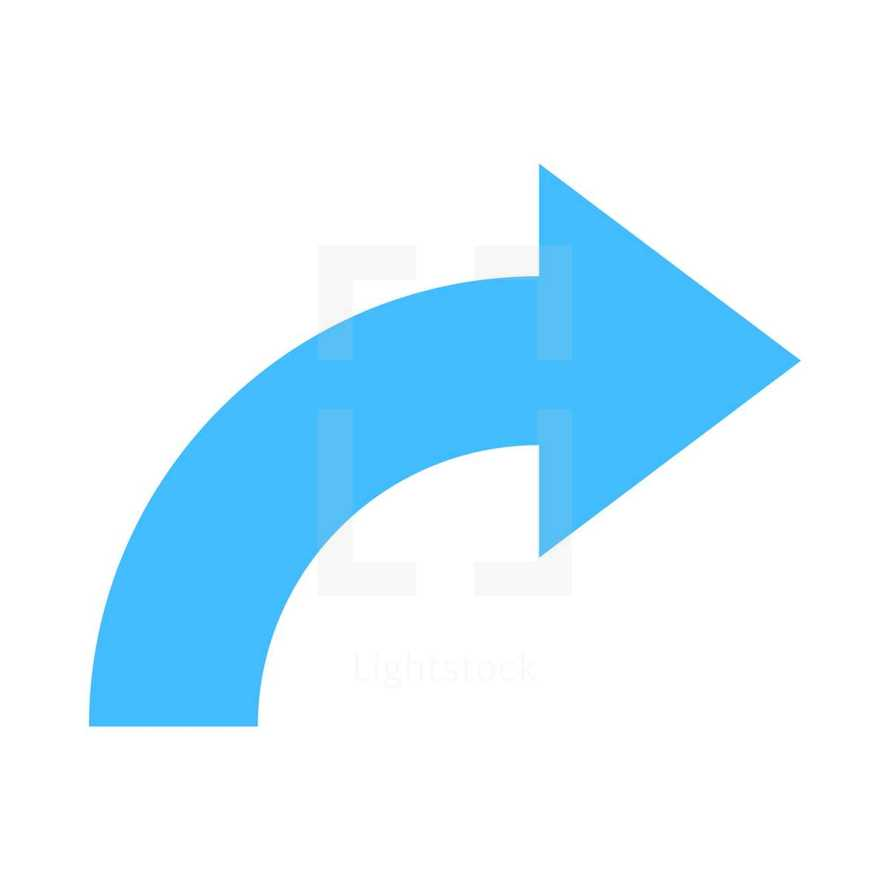 Blue arrow  reload, refresh, rotation, loop, repetition, reset sign created in flat style. The graphic element saved as a vector illustration in the EPS file format for used in your design projects.