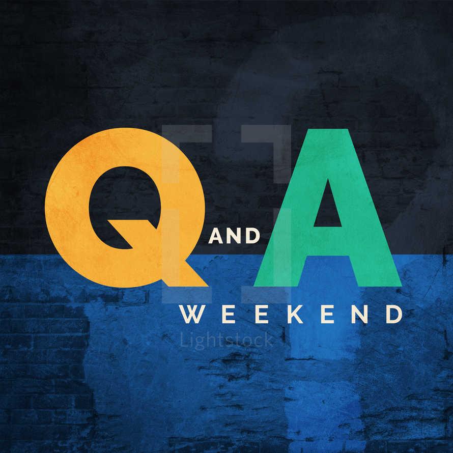 Q&A Weekend - Social Graphics