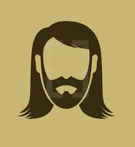 Jesus with beard icon