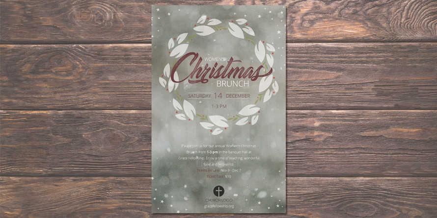 Women's Christmas Brunch Flyer