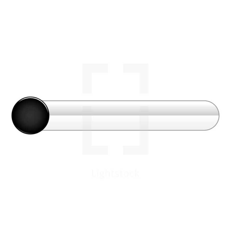 black circle button