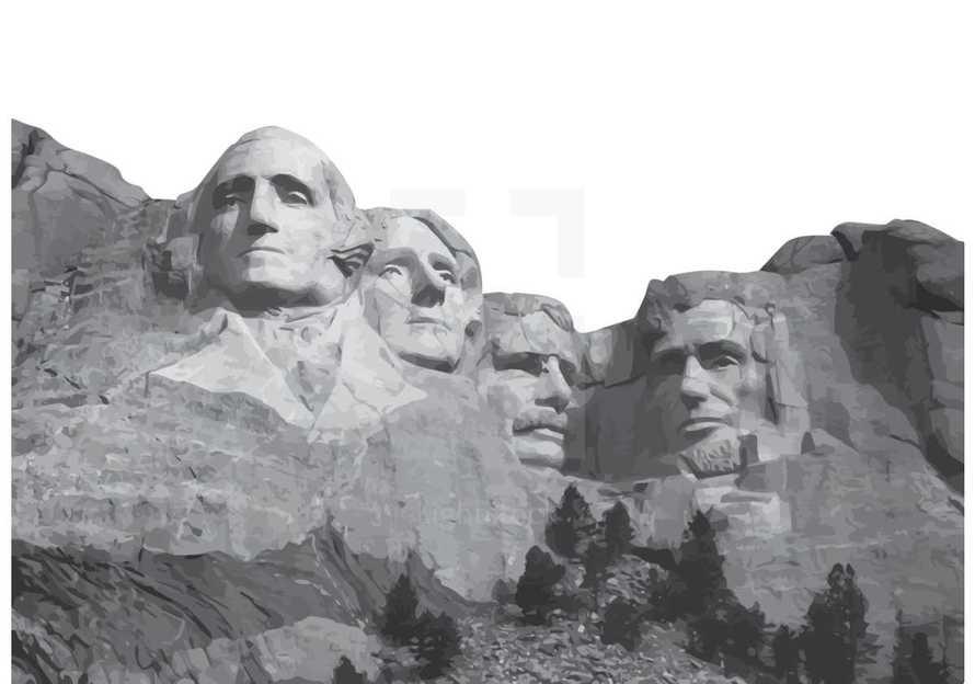 Mount Rushmore Vector