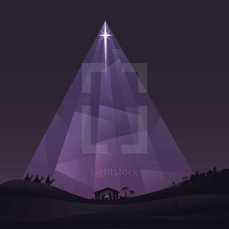 Immanuel, nativity scene, Christmas, Christmas eve, wise men, shepherds, manger, starlight, Bethlehem, star