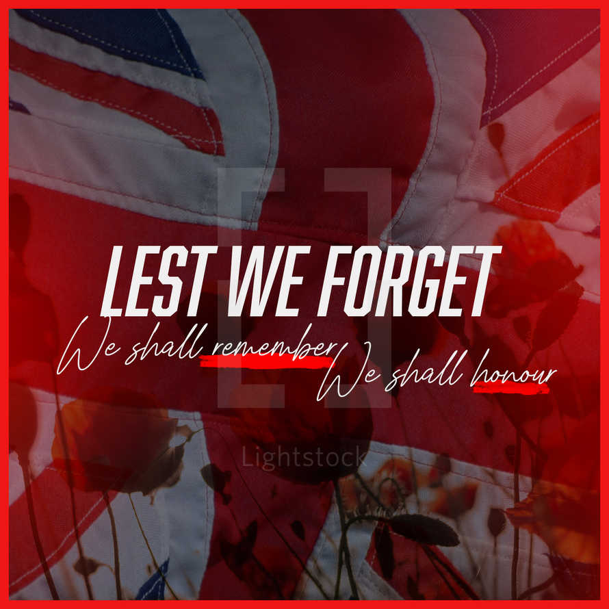 Lest We Forget / Anzac Day/ Social Graphic