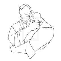 prodigal son - man hugging boy