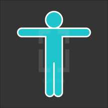 person with outstretched arms