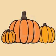 orange pumpkins