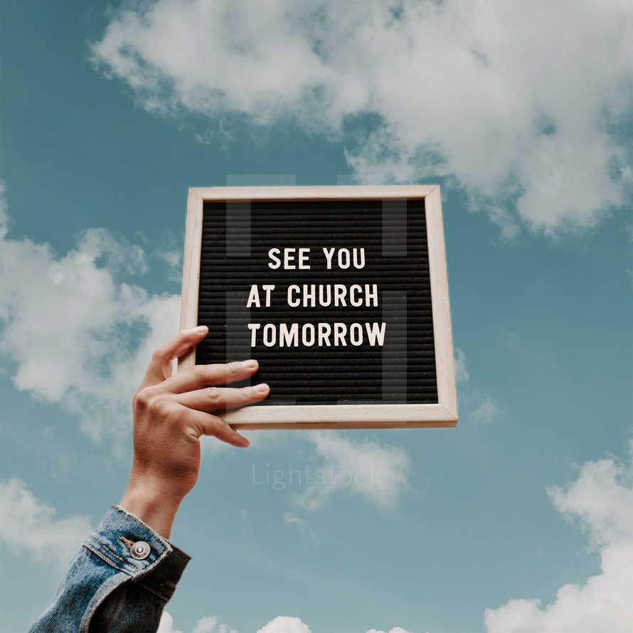 See you at church tomorrow!