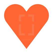 Red heart symbol isolated on white background. Red-orange heart icon created in trendy flat style. The red heart symbol for love emotions created in flat design style. The multimedia red heart button is intended for an audio music or movie video player. The red heart icon for the content you like is designed to use a Graphical User Interface. The medical red heart sign can be used for the cardiology department at the clinic for heart disease. The design graphic element is saved as a vector illustration in the EPS file format for your design projects.