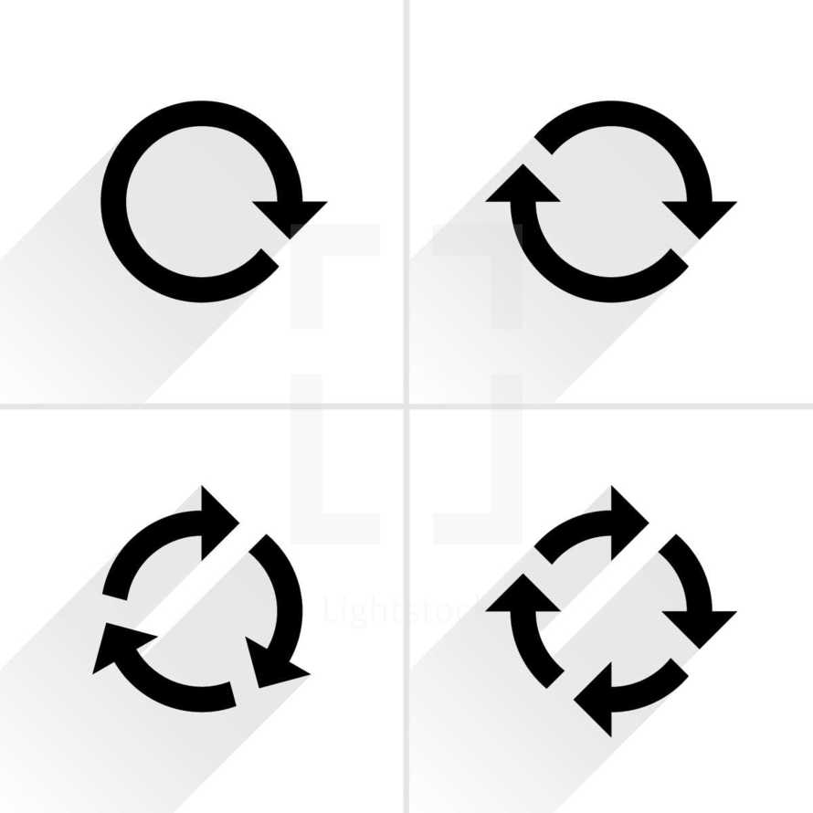 Reload arrows, refresh icon, rotation sign, cycle pictogram. Graphic element for design saved as an vector illustration in file format EPS