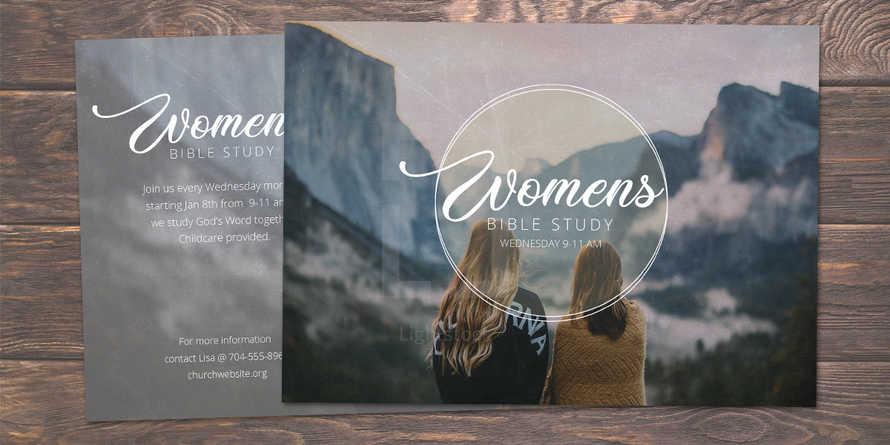 Women's Bible Study Postcard