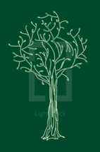 tree, hand drawn, icon