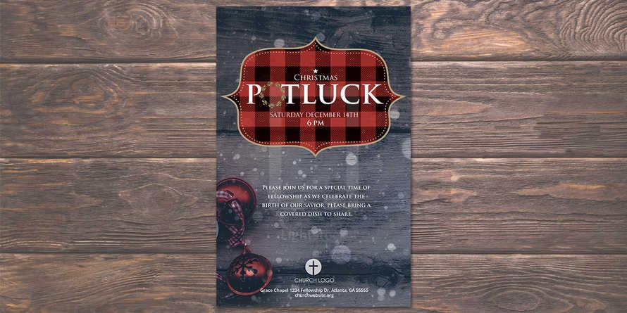 Christmas Potluck Flyer