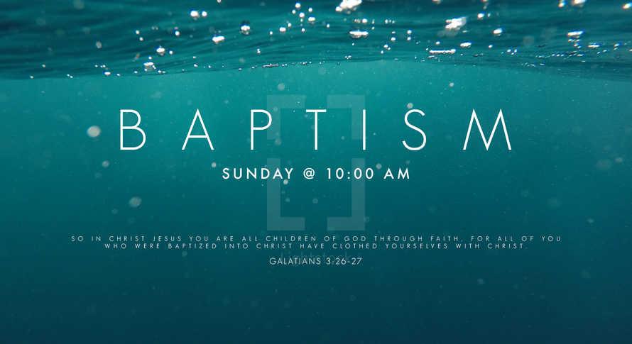 Baptism Background Sermon Worship Slide Presentation