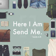 Here I Am Send Me Isaiah 6:8 Missions Social Media Graphic Background