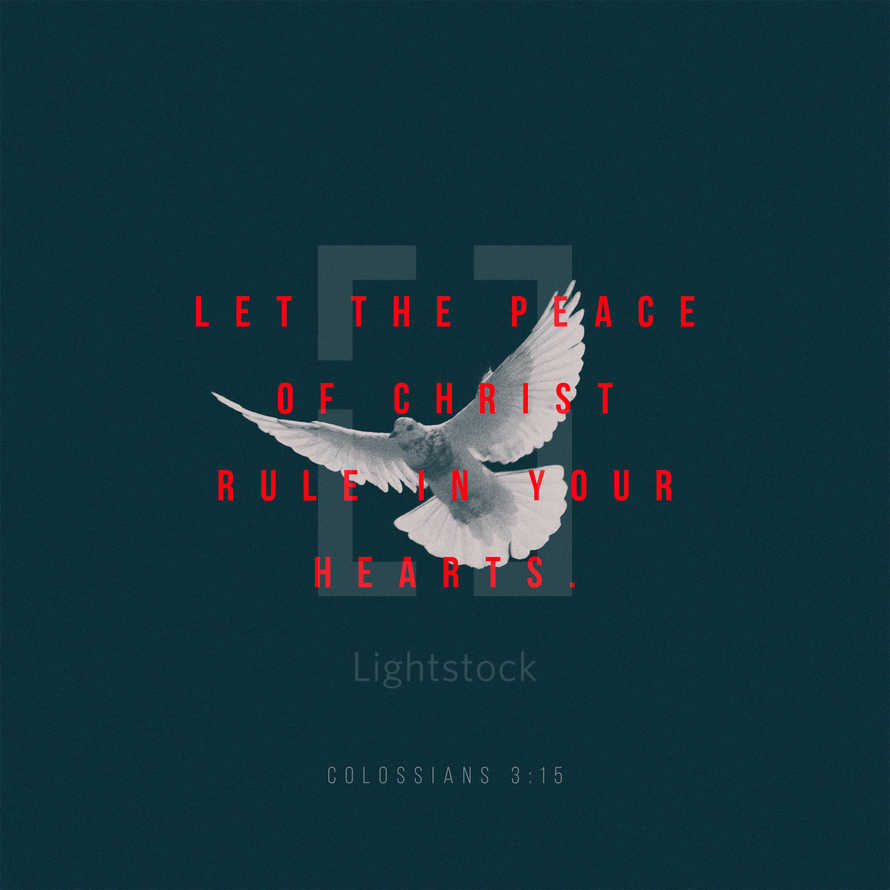 Let the peace of Christ rule in your hearts. – Colossians 3:15