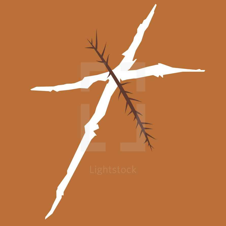 cross and thorns
